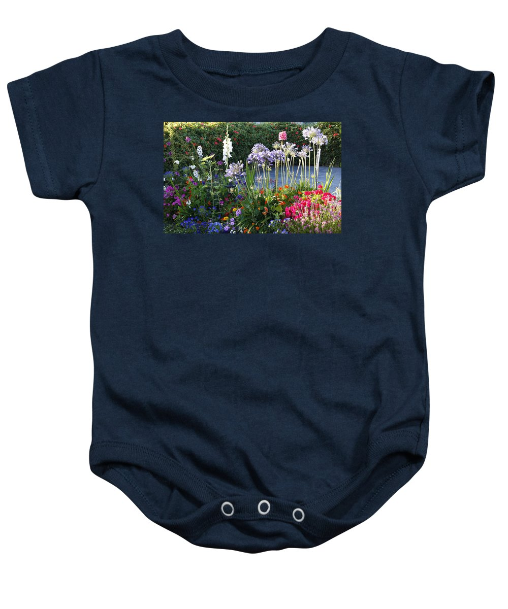 Summer Baby Onesie featuring the photograph A Summer Garden by Marilyn Hunt
