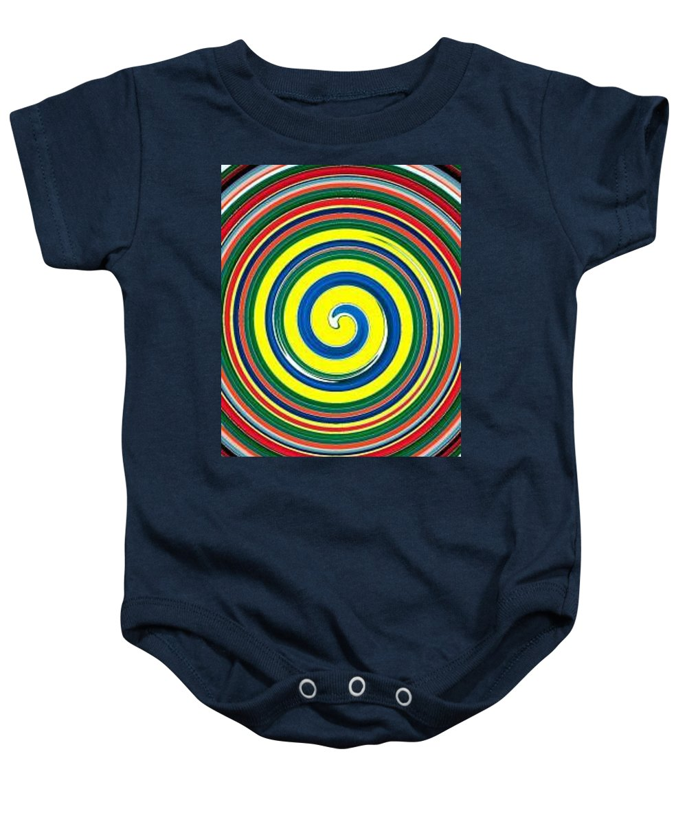 Digital Spiral Baby Onesie featuring the painting Abb1 by Andrew Johnson
