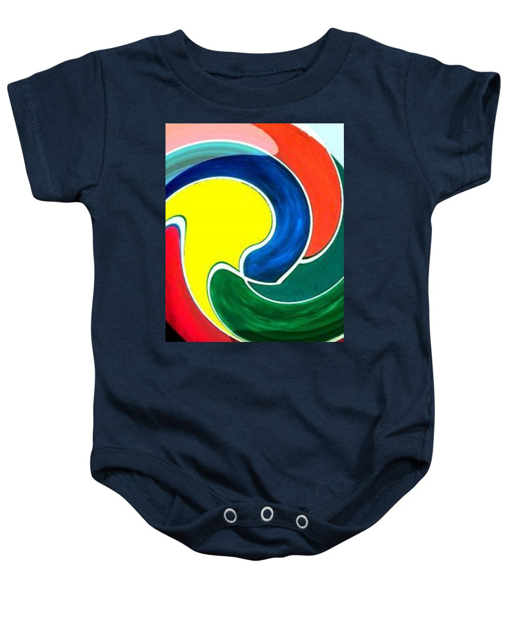 Digitalized Baby Onesie featuring the digital art Abbs by Andrew Johnson