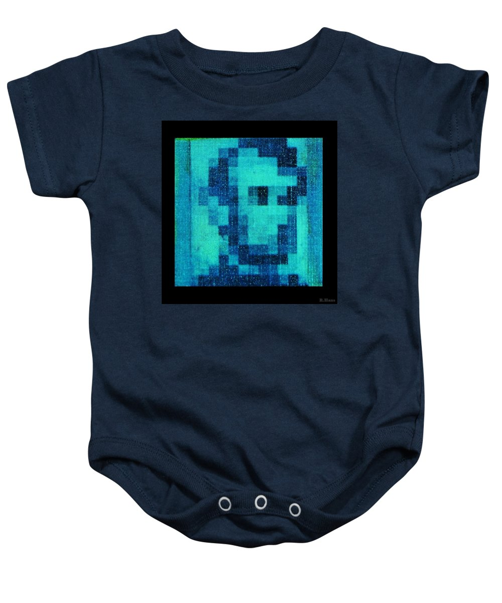 Blue Baby Onesie featuring the photograph Abe In Aqua by Rob Hans