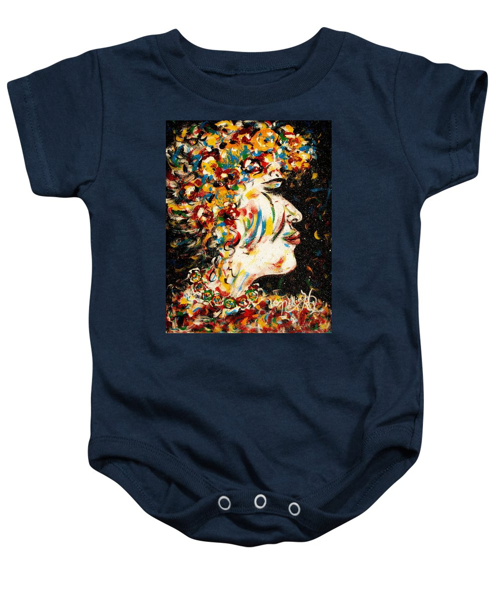 Woman Baby Onesie featuring the painting Absolutely Not by Natalie Holland