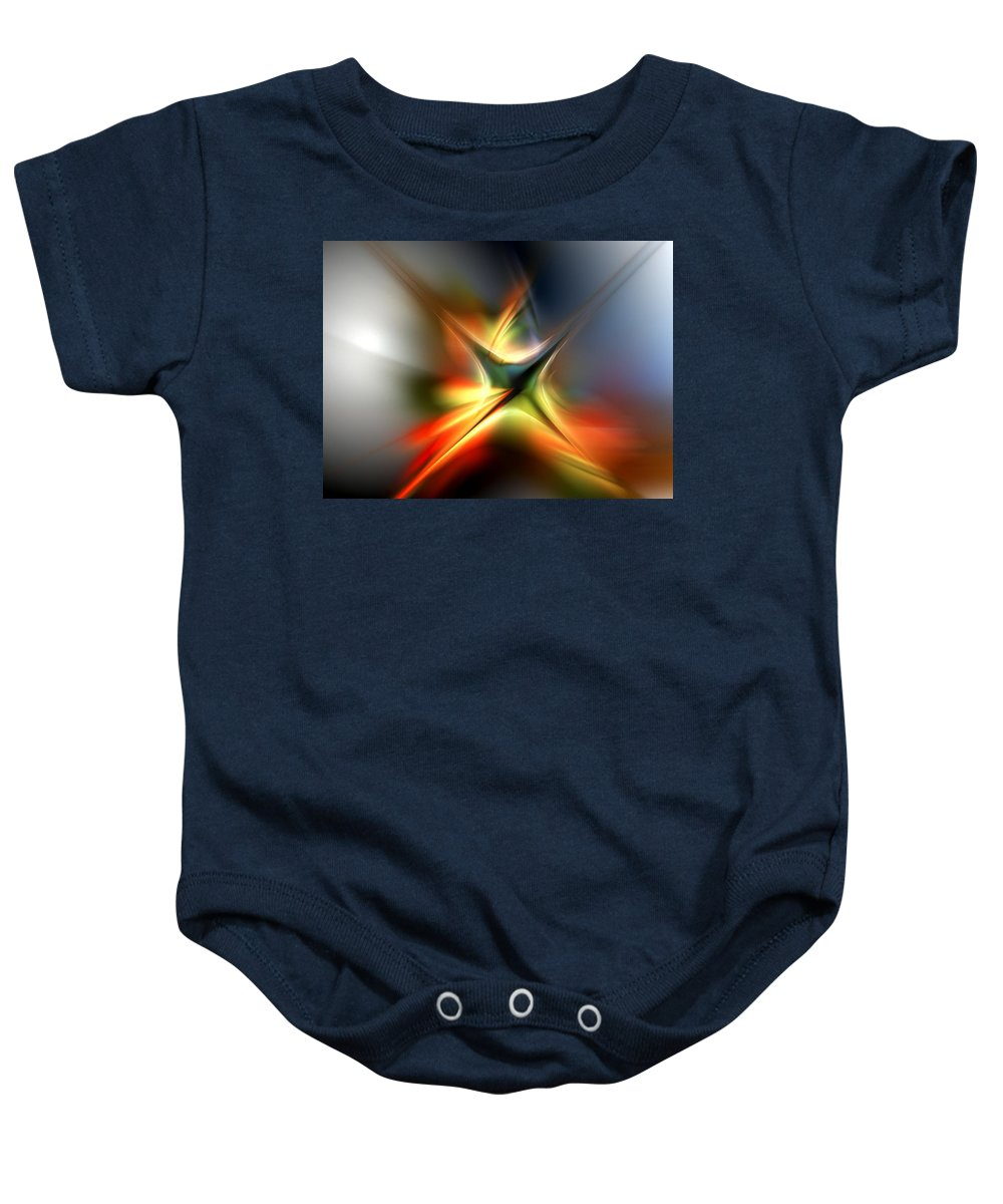 Digital Painting Baby Onesie featuring the digital art Abstract 060310a by David Lane