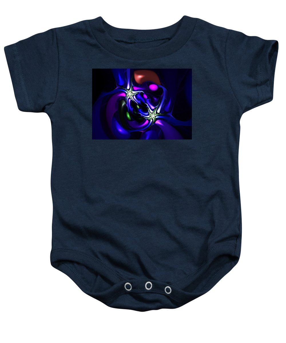 Abstract Baby Onesie featuring the digital art Abstract 060810f by David Lane