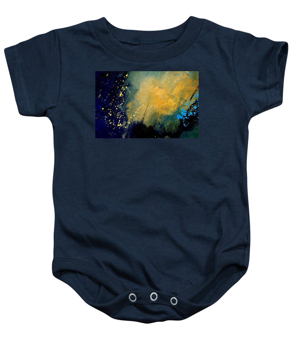 Abstract Baby Onesie featuring the painting Abstract 061 by Pol Ledent