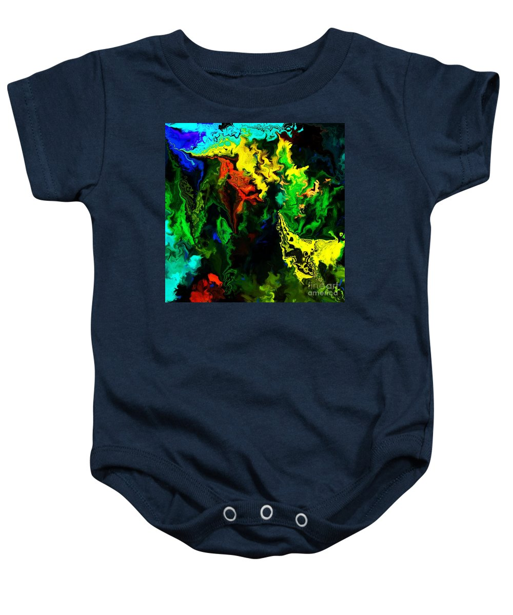 Abstract Baby Onesie featuring the digital art Abstract 2-23-09 by David Lane