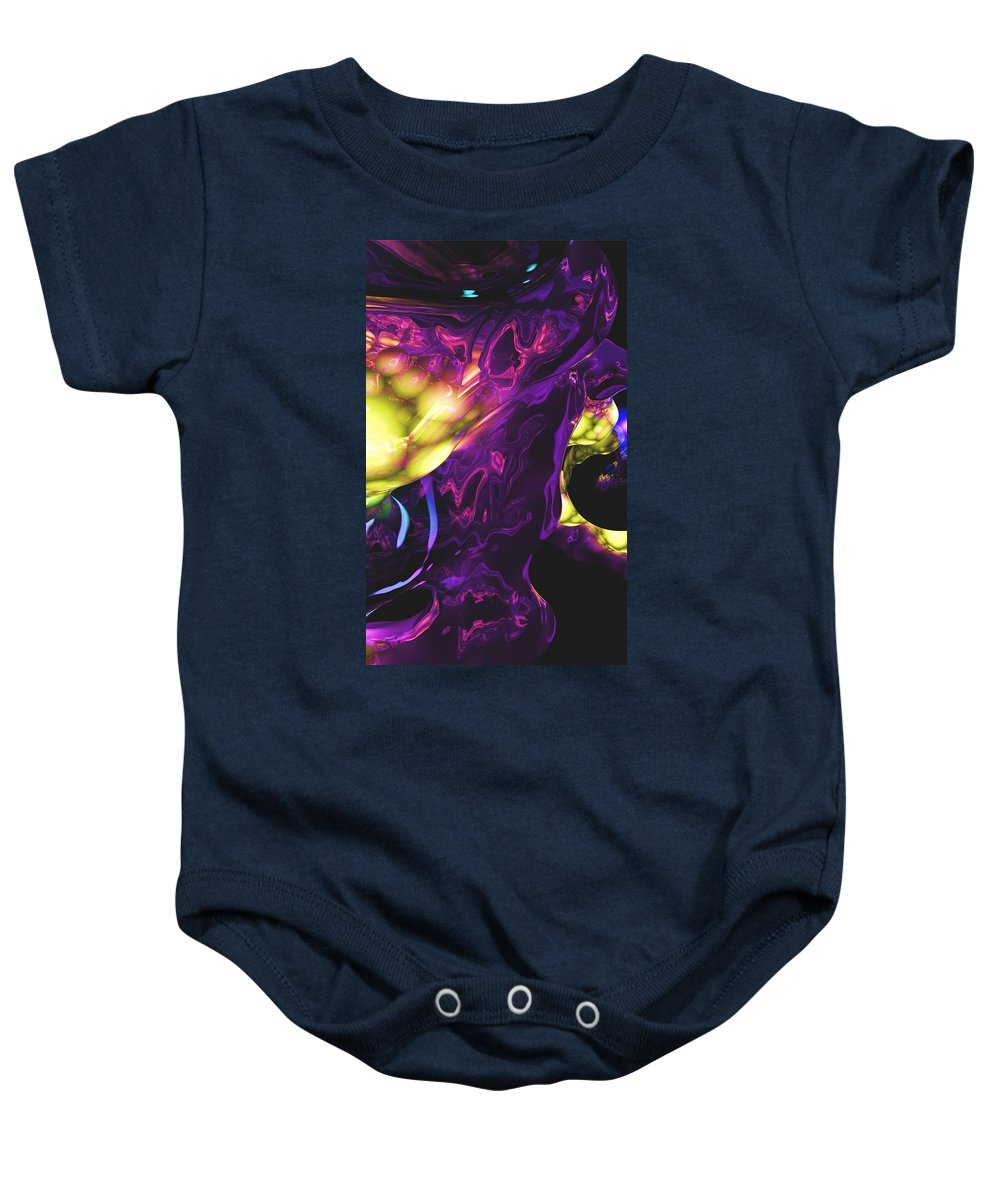Abstract Baby Onesie featuring the digital art Abstract 7-25-09 by David Lane