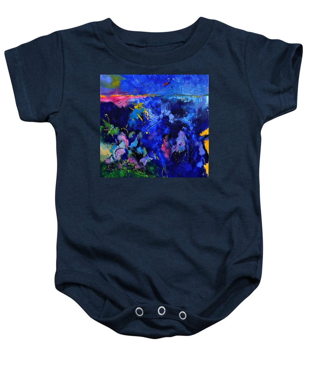 Abstract Baby Onesie featuring the painting Abstract 8801602 by Pol Ledent