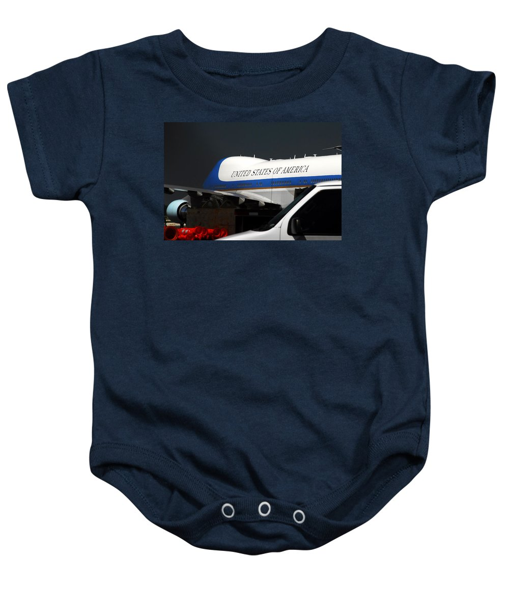 Photography Baby Onesie featuring the photograph Air Force One by David Lee Thompson