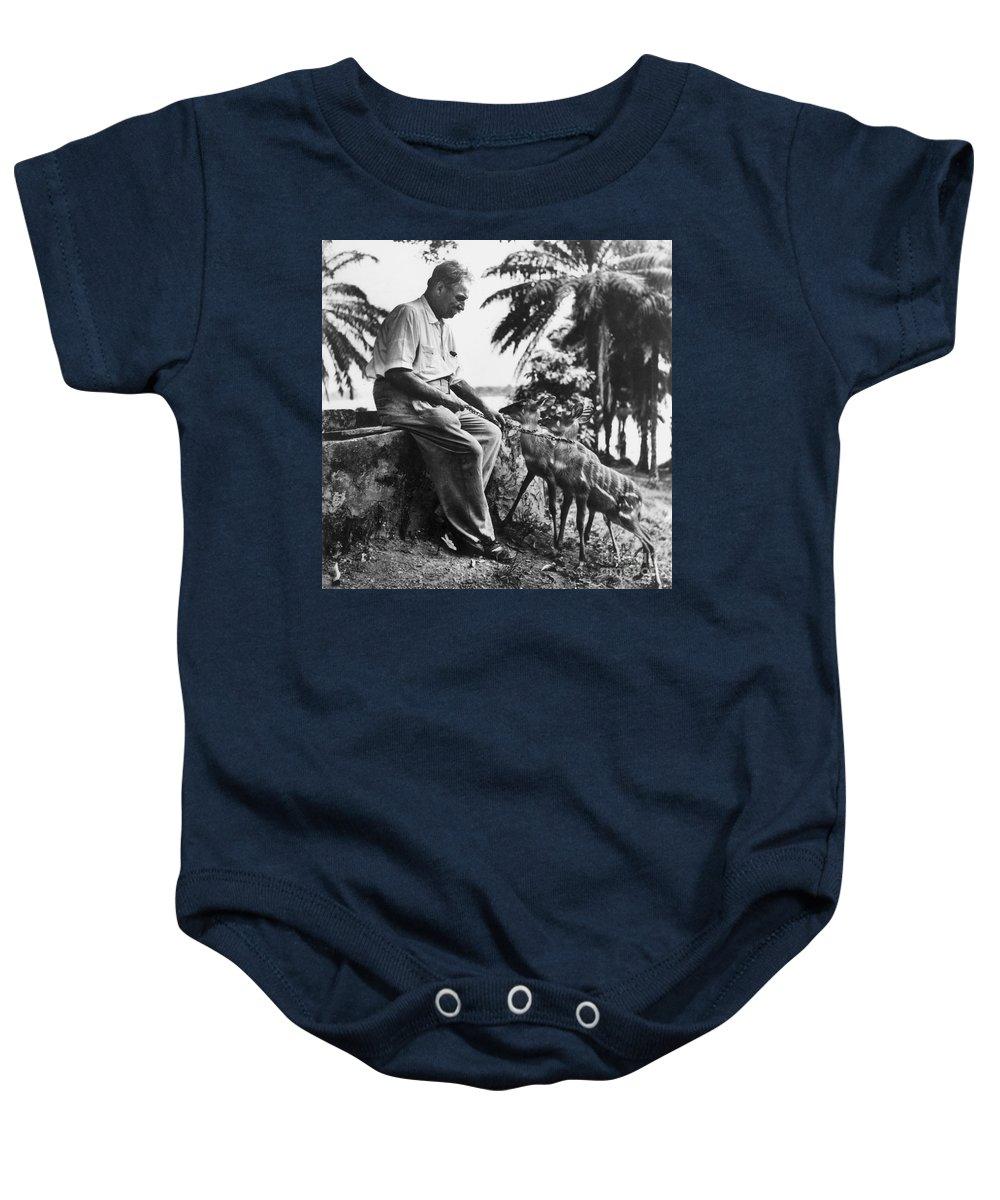 20th Century Baby Onesie featuring the photograph Albert Schweitzer by Granger
