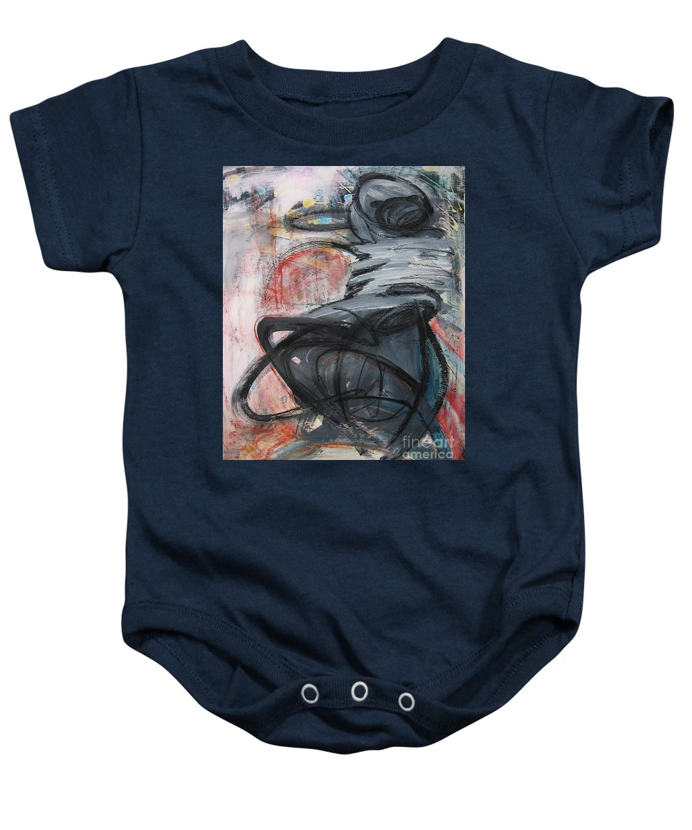 Abstract Paintings Paintings Baby Onesie featuring the painting All Alone by Seon-Jeong Kim