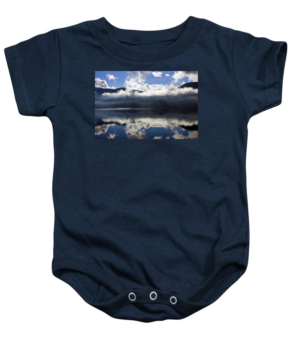 Heavenly Light Baby Onesie featuring the photograph Almost Heaven by Mike Dawson