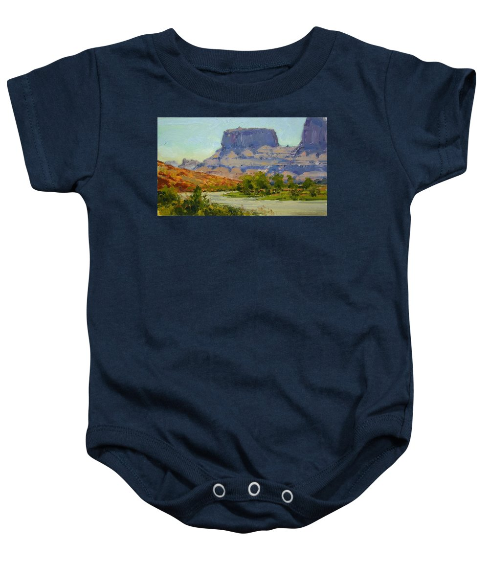 Fineart Baby Onesie featuring the painting Along The Colorado River by Spike Ress