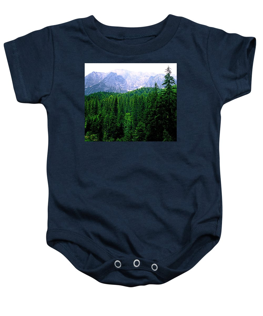 Bavaria Baby Onesie featuring the photograph Alpine Forest by Kevin Smith