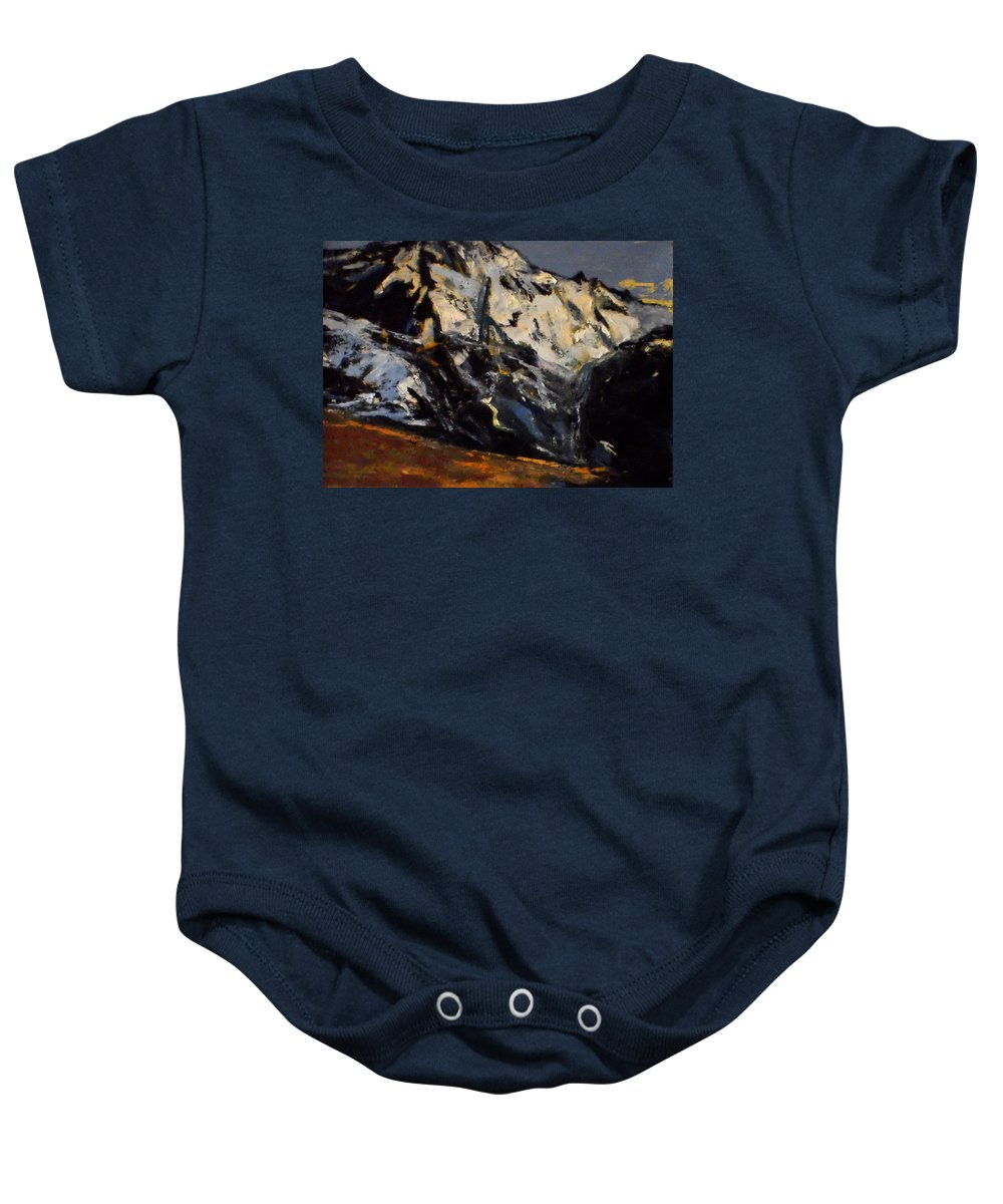 Landscape Baby Onesie featuring the painting Alps by Vladimir Vlahovic