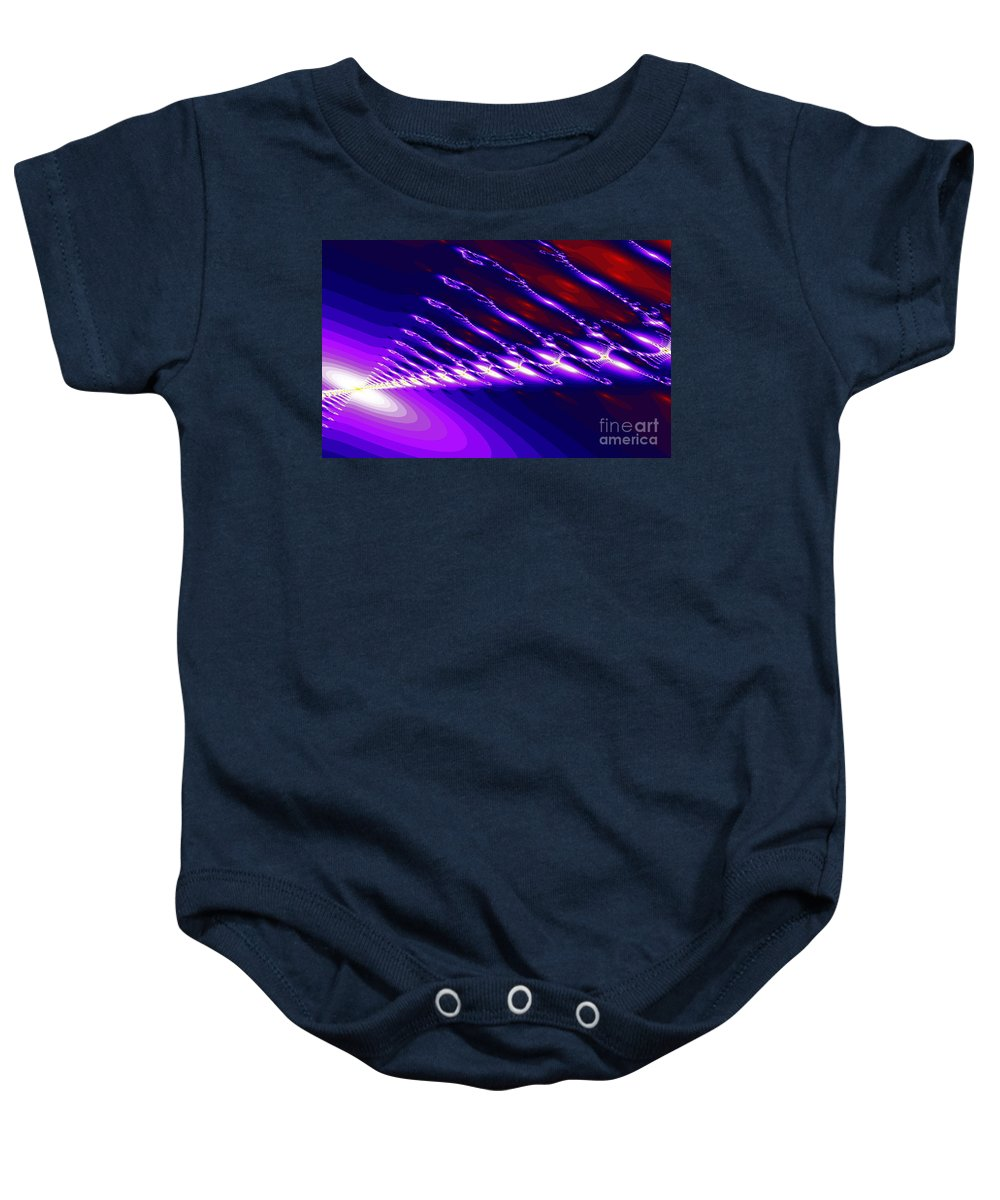 Clay Baby Onesie featuring the digital art Ambient Noise by Clayton Bruster
