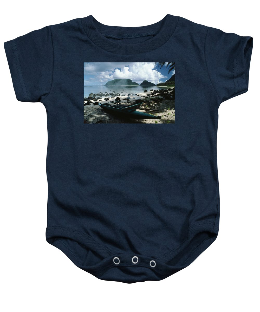 American Baby Onesie featuring the photograph American Samoa by Bob Abraham - Printscapes