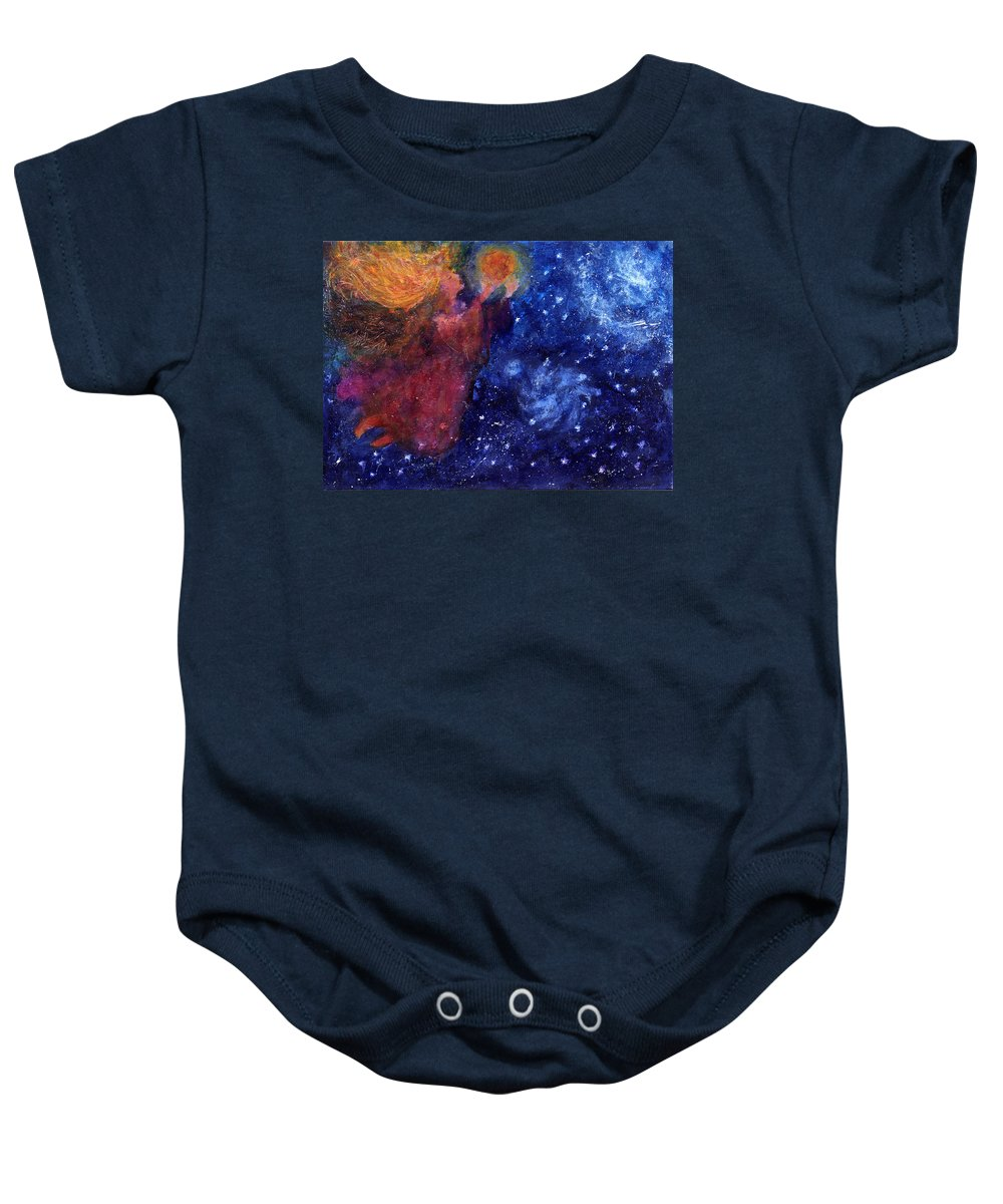 Angel Baby Onesie featuring the painting Angel Heart by Diana Ludwig