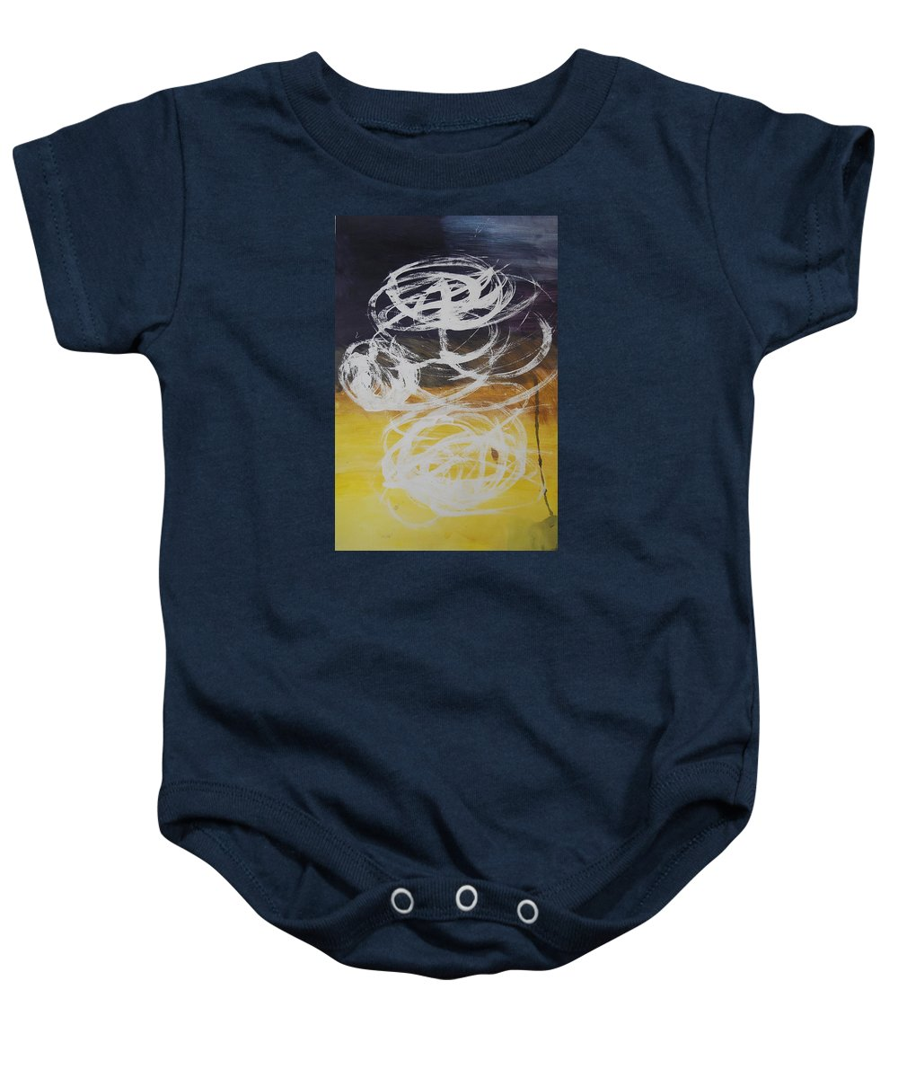 Learning Baby Onesie featuring the painting Aprendiendo by Lauren Luna