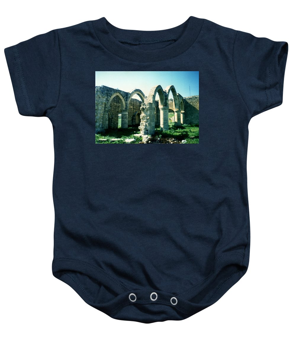 Arches Baby Onesie featuring the photograph Arches by Catt Kyriacou