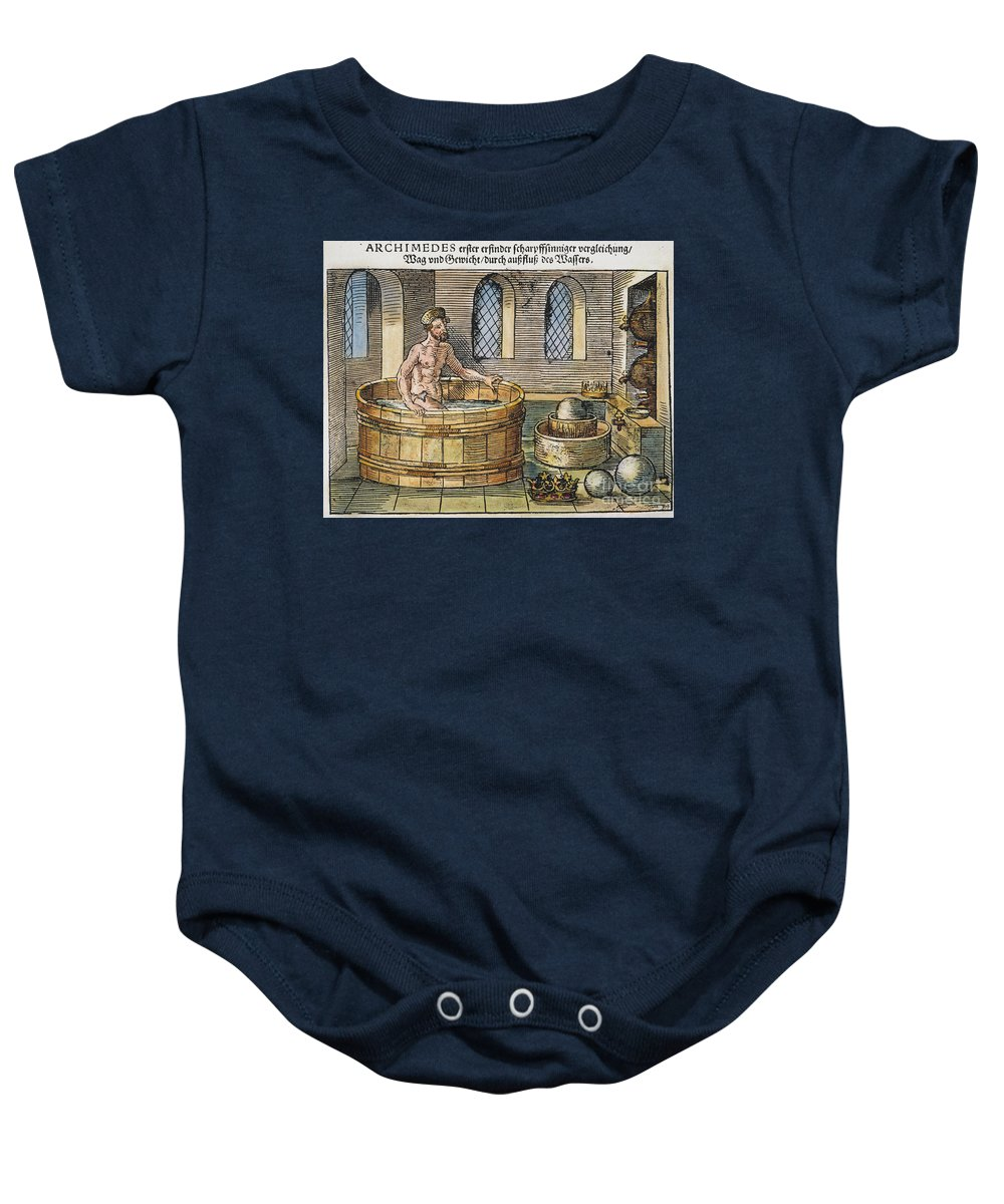 3rd Century B.c. Baby Onesie featuring the photograph Archimedes by Granger