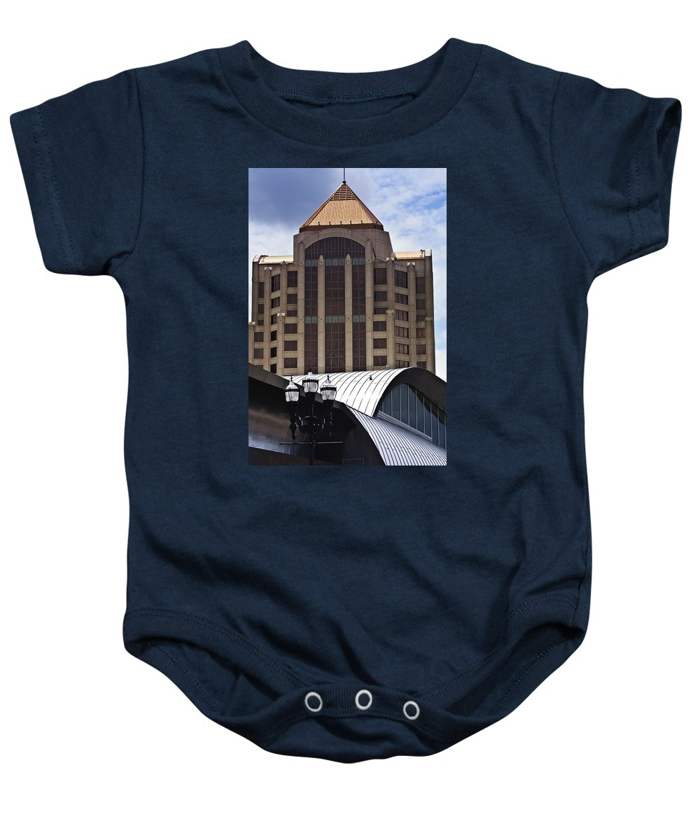 Architecture Baby Onesie featuring the photograph Architectural Differences Roanoke Virginia by Teresa Mucha