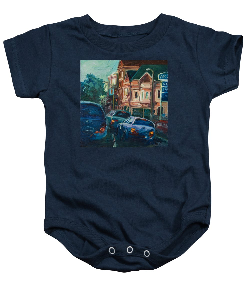 Trees Baby Onesie featuring the painting Arco by Rick Nederlof
