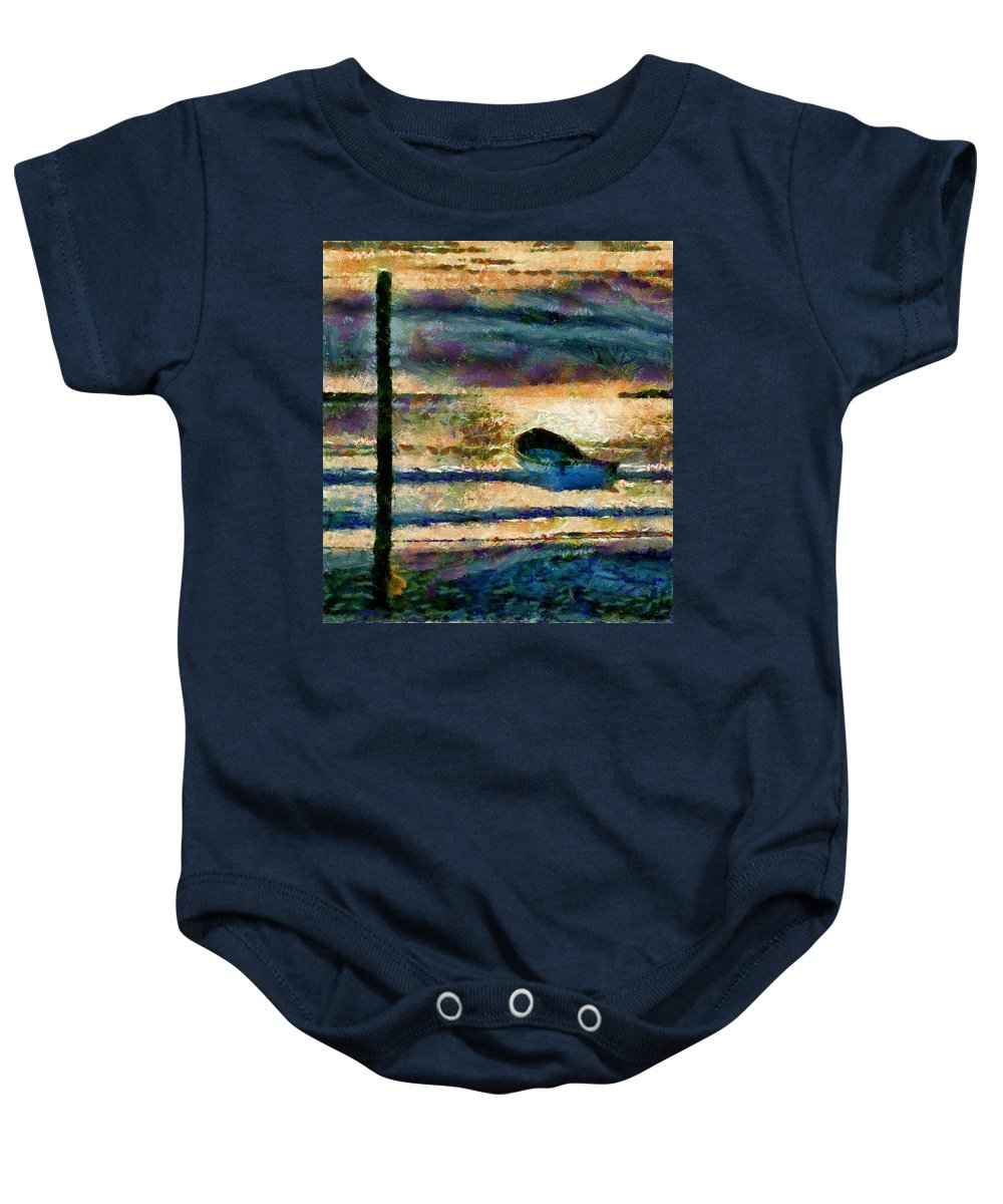 Boat Baby Onesie featuring the photograph At The End Of Working Day by Galeria Trompiz
