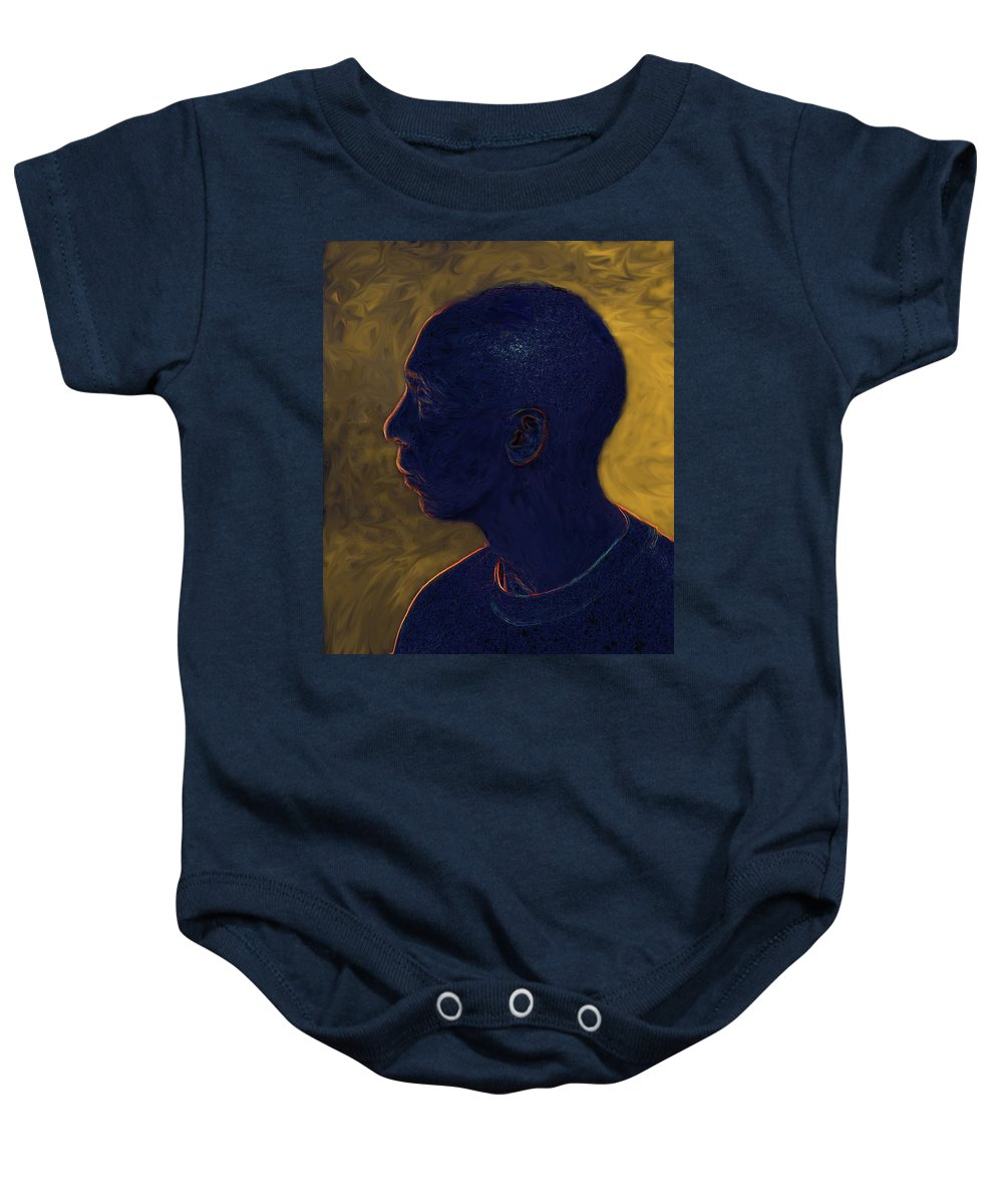Athelete Baby Onesie featuring the digital art Athelete by Ian MacDonald