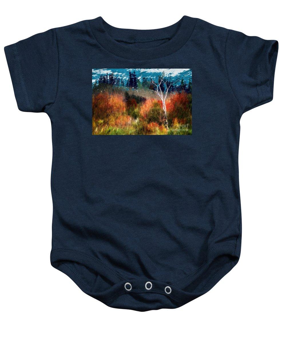 Digital Photo Baby Onesie featuring the digital art Autumn Feel by David Lane