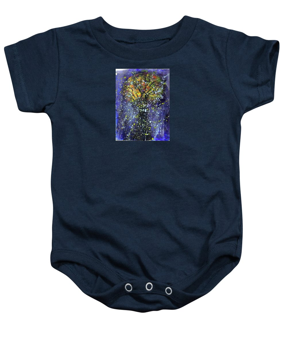 Autumn Baby Onesie featuring the painting Autumn Night by T Byron K