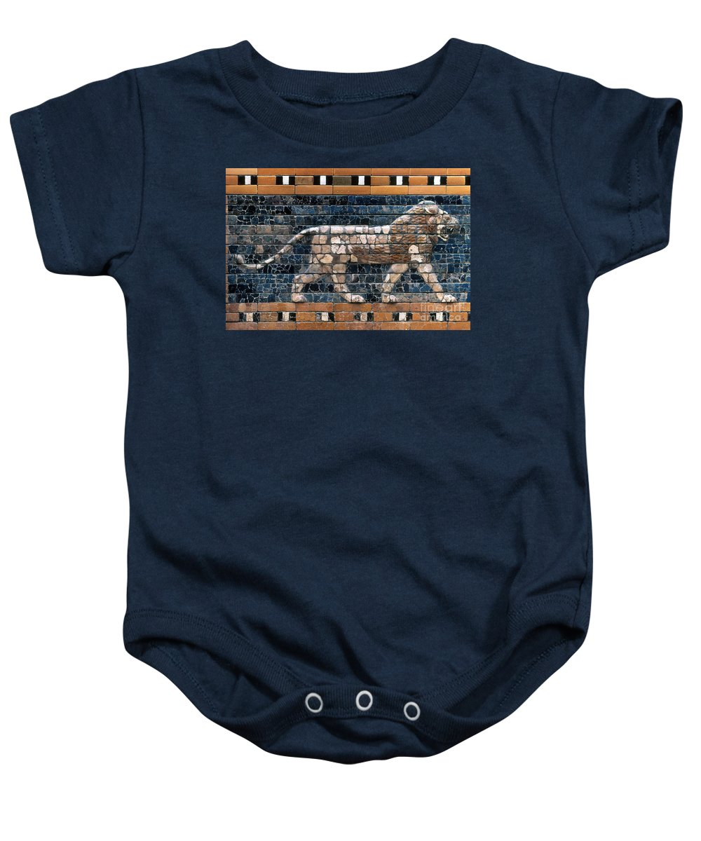 6th Century B.c. Baby Onesie featuring the photograph Babylon: Lion by Granger