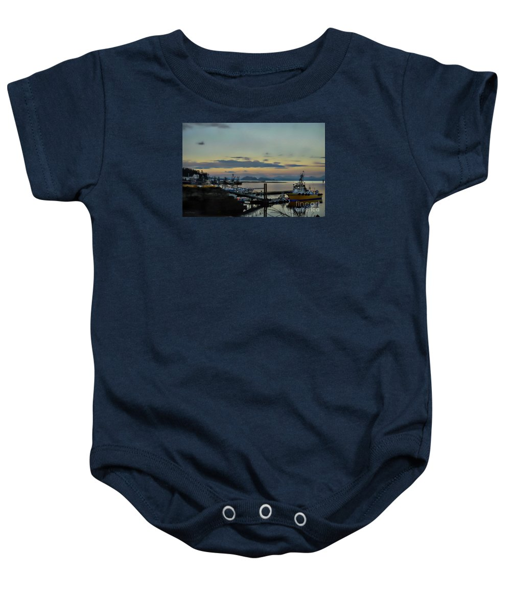 Ocean Baby Onesie featuring the photograph Bay View by Gail Bridger