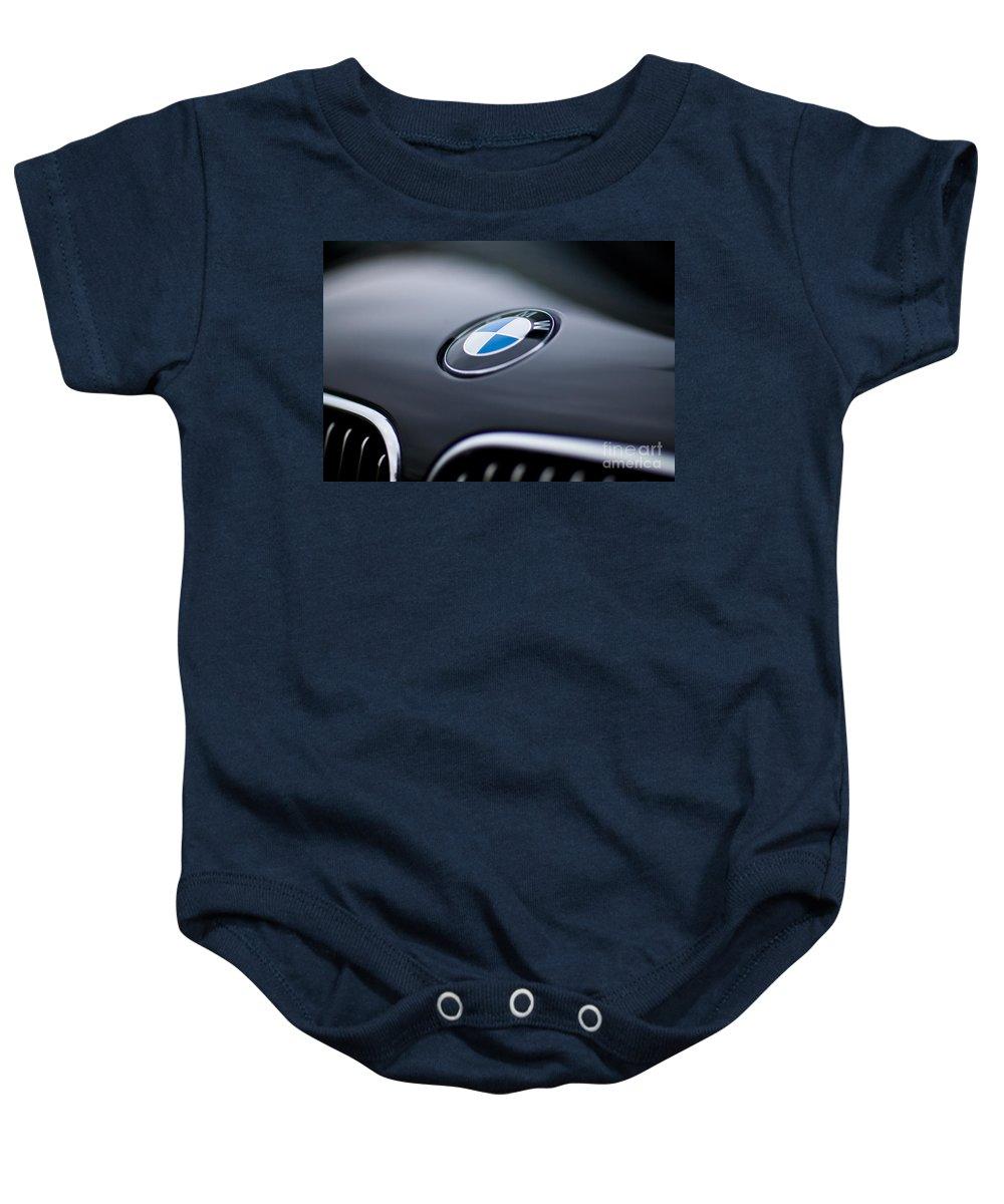 Bayerische Motoren Werke Baby Onesie featuring the photograph Bayerische Motoren Werke by Mike Reid