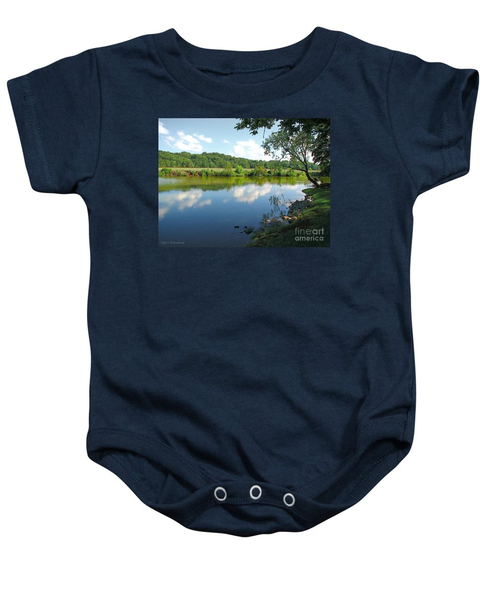 Landscape Baby Onesie featuring the photograph Beautiful Blue Water by Todd Blanchard