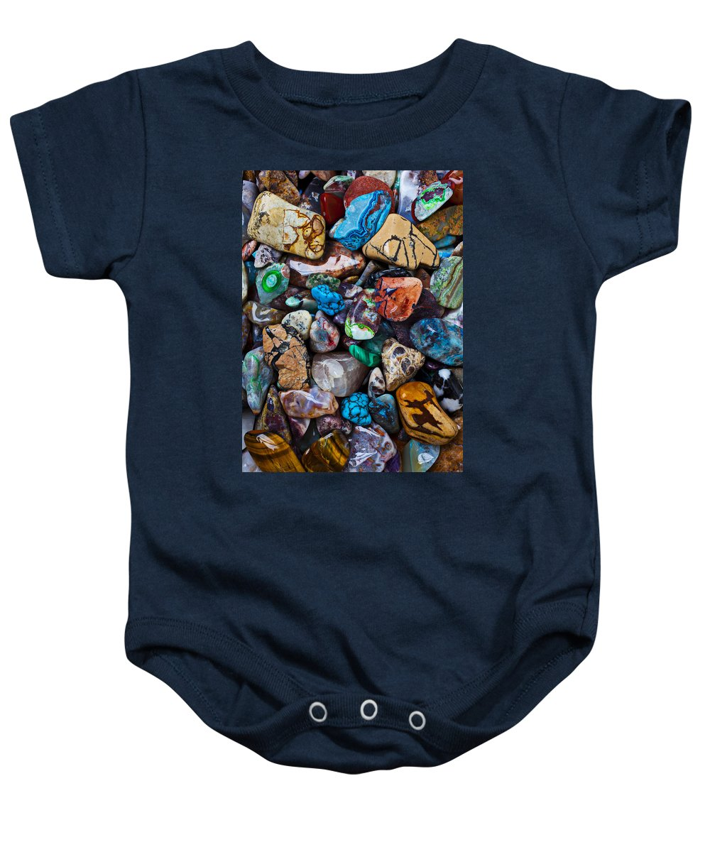 Stone Baby Onesie featuring the photograph Beautiful Stones by Garry Gay