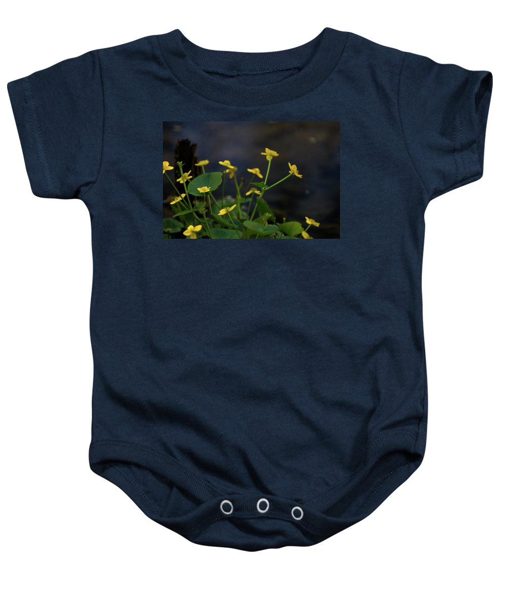 macro Baby Onesie featuring the photograph Beauty On The Waters Edge by Paul Mangold