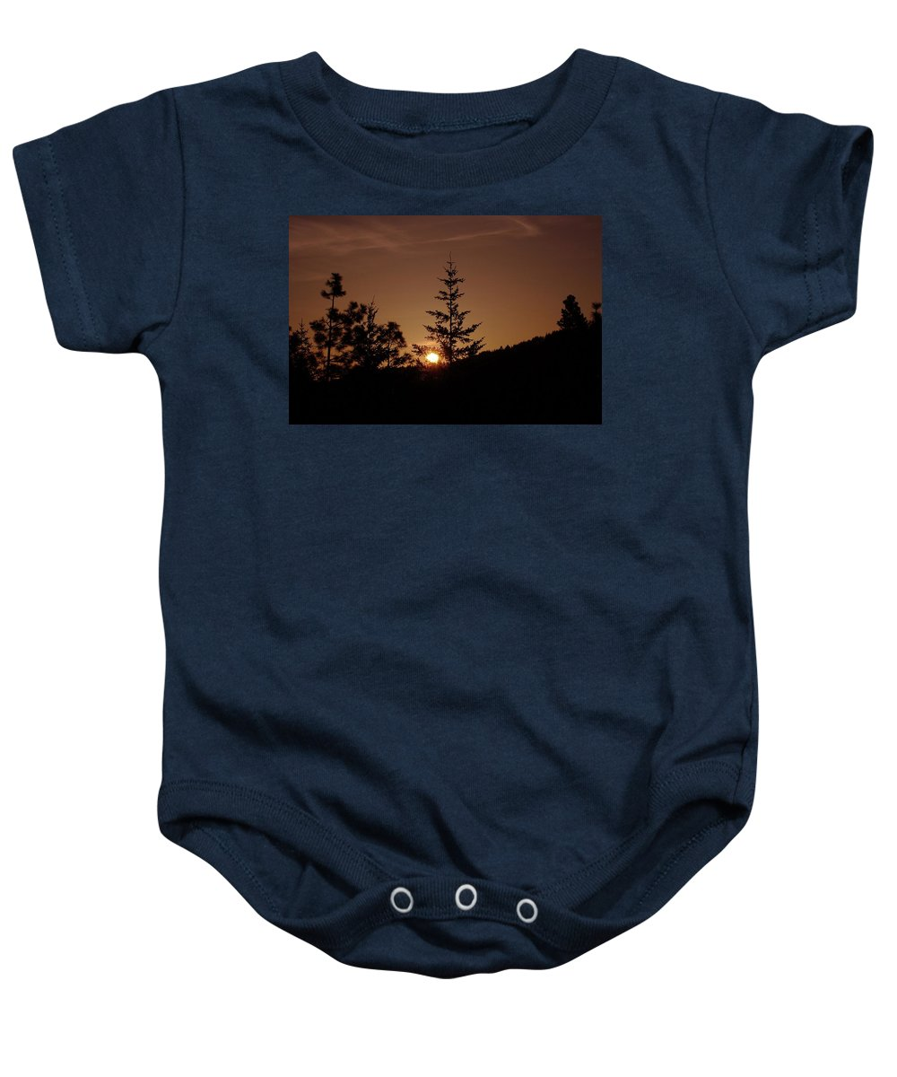 Sunrise Baby Onesie featuring the photograph Beginnings by Jeff Swan