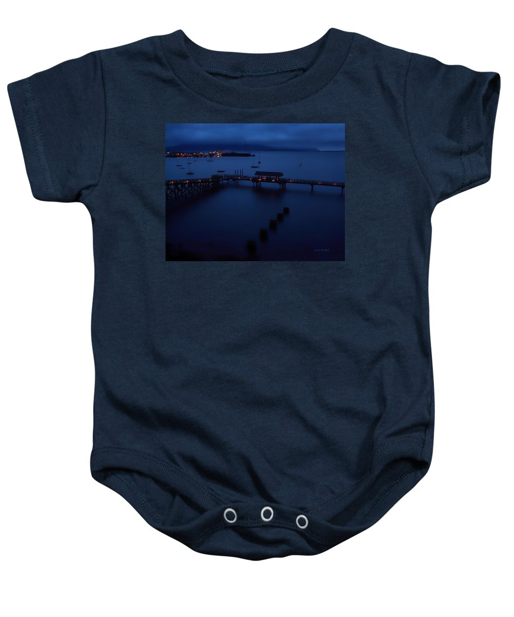 Bellingham Bay Baby Onesie featuring the photograph Bellingham Bay by Donna Blackhall