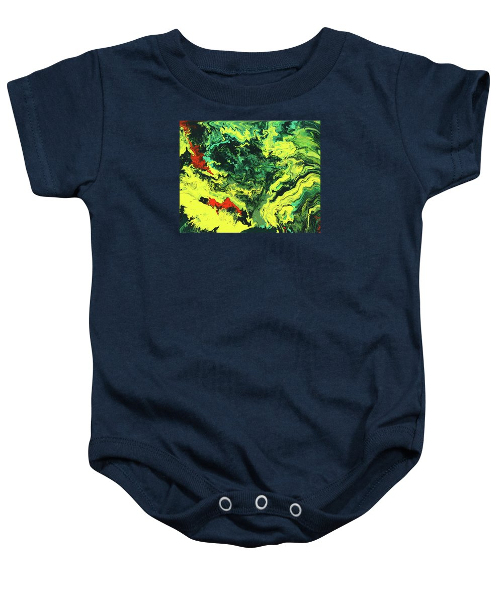 Fusionart Baby Onesie featuring the painting Bird Of Paradise by Ralph White