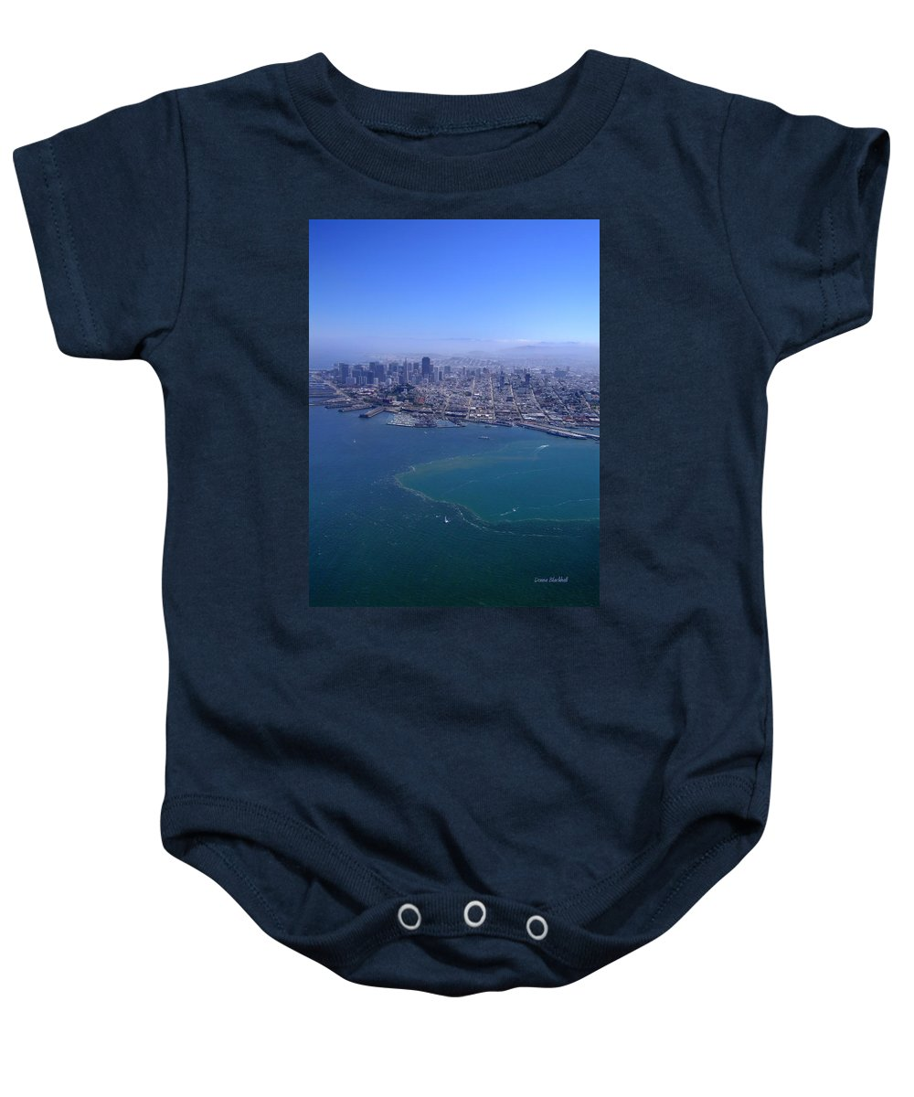 San Francicsco Baby Onesie featuring the photograph Bird's Eye View by Donna Blackhall