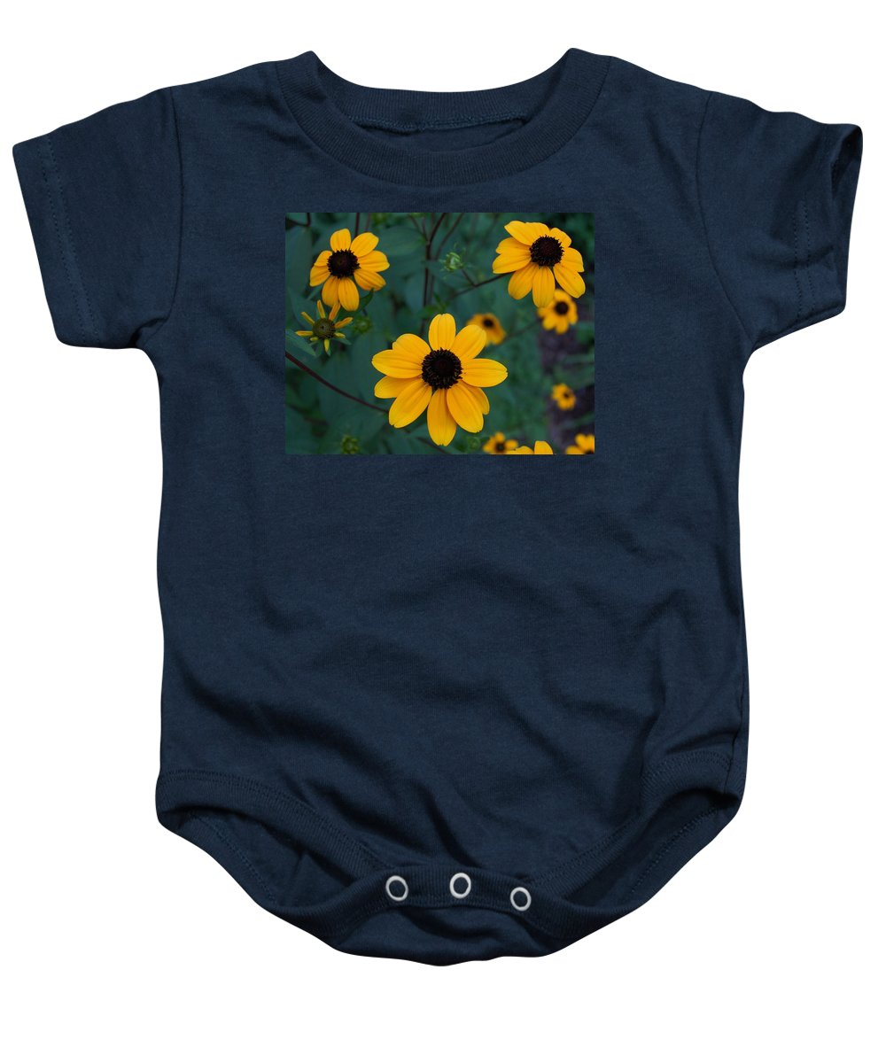 Black Eyed Susan Baby Onesie featuring the photograph Black Eyed Susan by James DeFazio