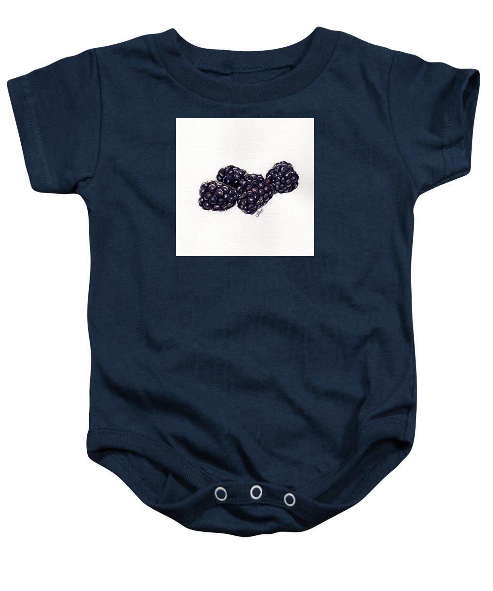Blackberry Baby Onesie featuring the painting Blackberries by Swati Singh