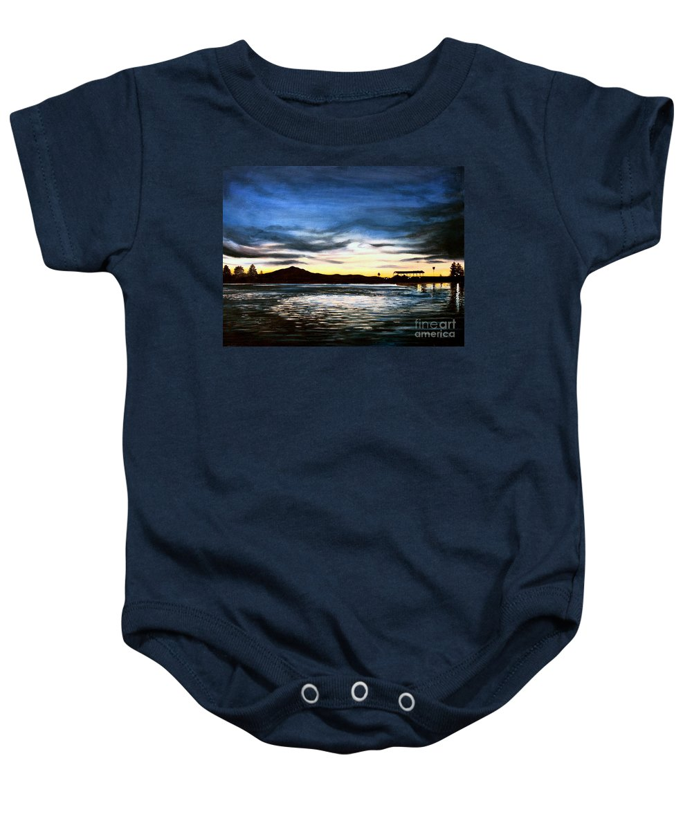 Landscape Baby Onesie featuring the painting Blue Diablo by Elizabeth Robinette Tyndall