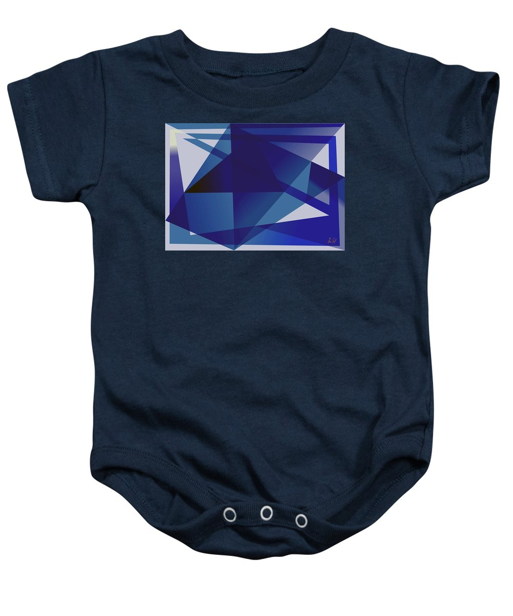 Blue Baby Onesie featuring the digital art Blue In Blue by Helmut Rottler