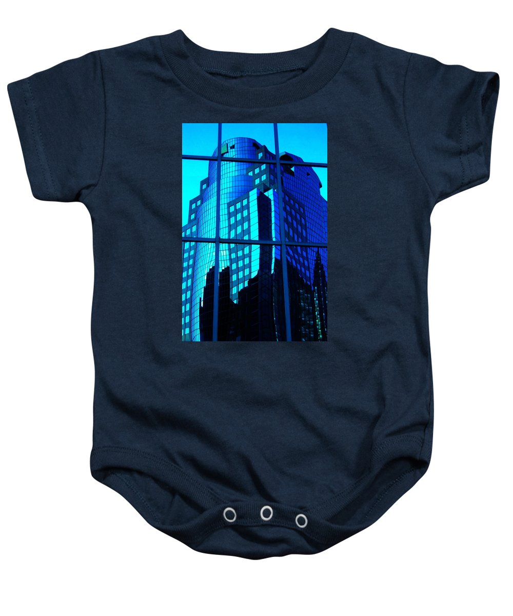 North America Baby Onesie featuring the photograph Blue Reflections ... by Juergen Weiss