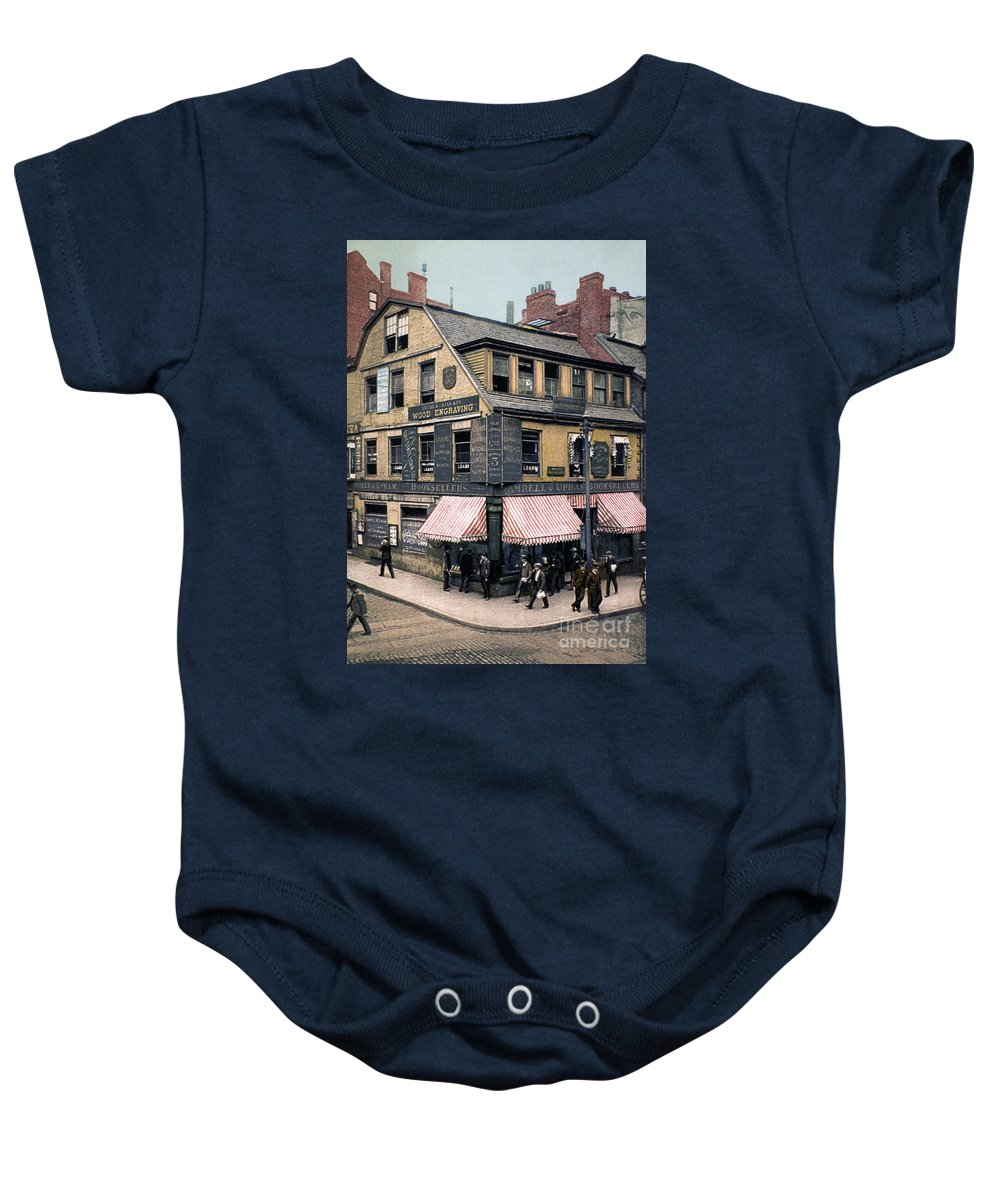 1900 Baby Onesie featuring the photograph Boston: Bookshop, 1900 by Granger