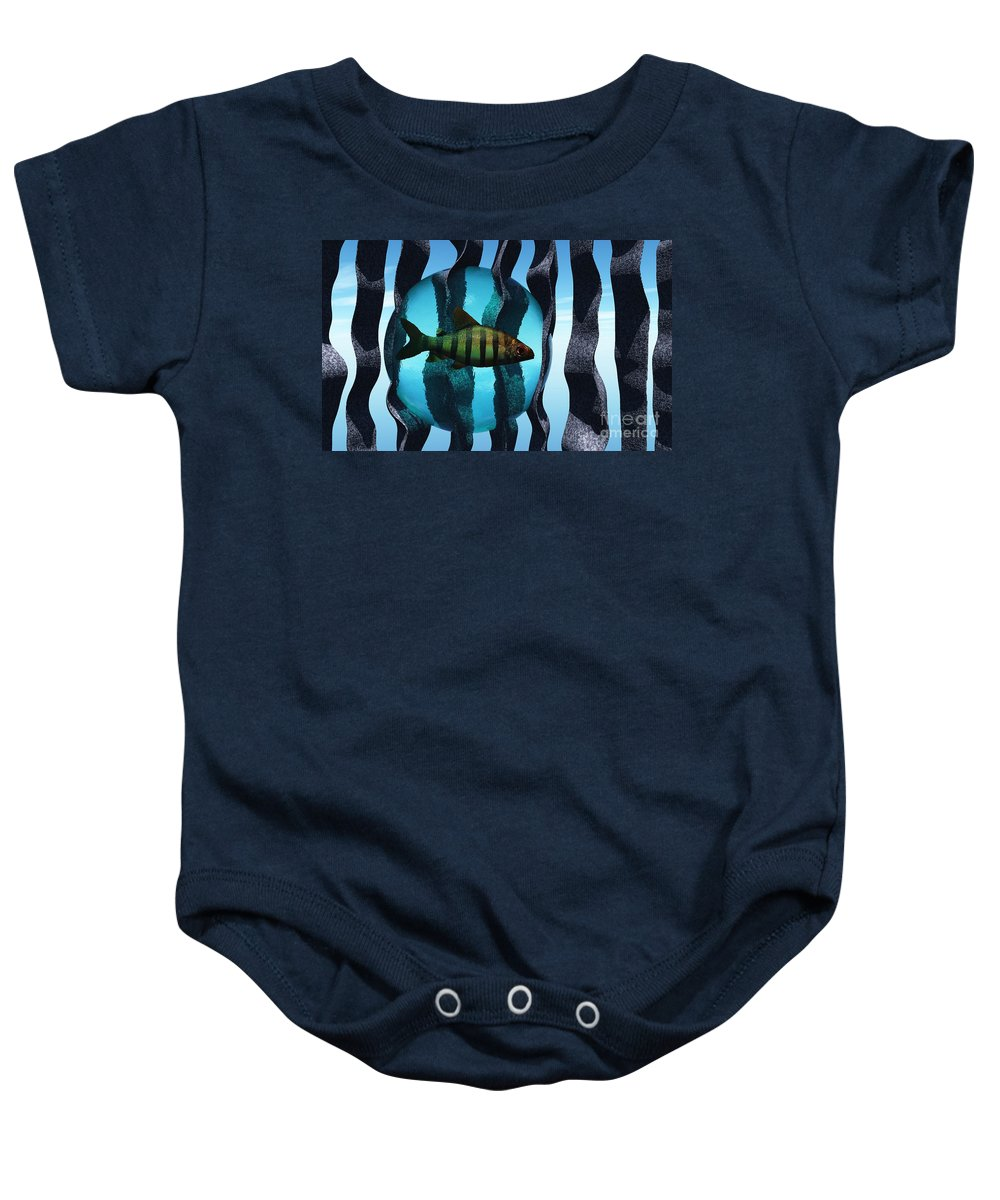 Surreal Baby Onesie featuring the digital art Bound by Richard Rizzo