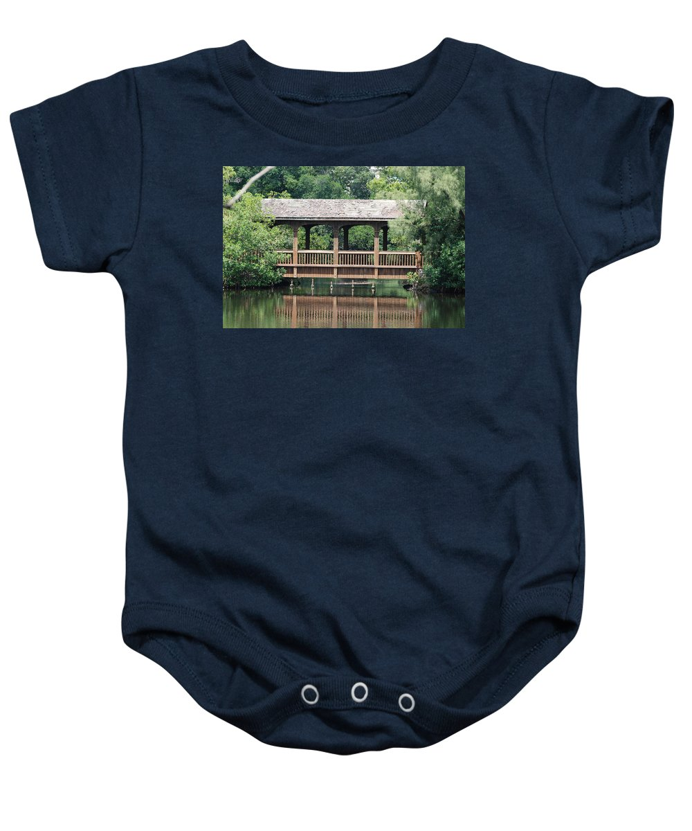 Architecture Baby Onesie featuring the photograph Bridges Of Miami Dade County by Rob Hans