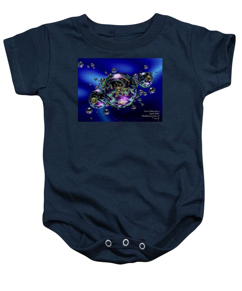 Announcement Baby Onesie featuring the painting Bubbliana Catus 2 No. 5 H A by Gert J Rheeders