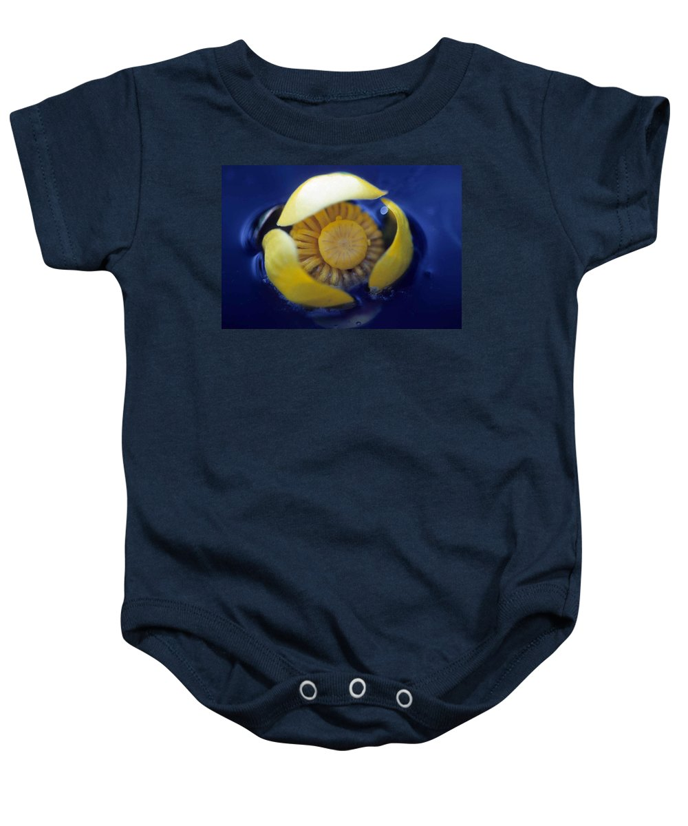 Lily Baby Onesie featuring the photograph Bull Lily by Laurie Paci